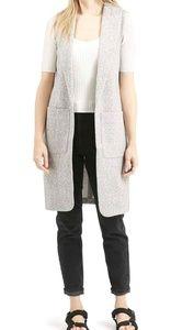 Topshop Gray Marled Longline Vest